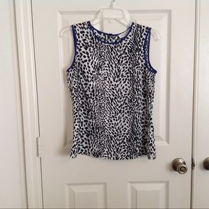 Kasper Animal Print Ladies Top S